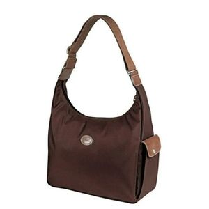 Handbags - Longchamp Le pliage hobo in chocolate color